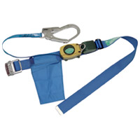 【ミドリ安全】 安全帯ロープ巻き取り式MR-500ブルー ★お得な10個パック