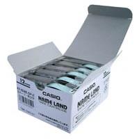 カシオ計算機 テープ XR-12WE-5P-E 白に黒文字 12mm 5個★お得な10個パック