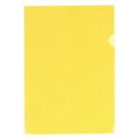 LIHITLAB クリヤーホルダー G6100-17 A4 黄 100枚★お得な10個パック
