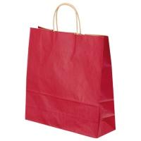 ベルベ 手提袋 T-6 1654 赤 50枚★お得な10個パック