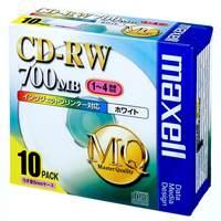 マクセル株式会社 CD-RW 700MB 80PW.S1P10S 10枚★お得な10個パック