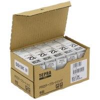 キングジム テプラPROテープ SS6K 白に黒文字 6mm 5個★お得な10個パック