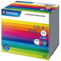 三菱ケミカルメディア CD-R 700MB SR80SP20V1 20枚★お得な10個パック