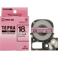 キングジム PROテープパール SMP18R 赤に黒文字18mm★お得な10個パック