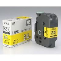 マックス 文字テープ LM-L524BY 黄に黒文字 24mm★お得な10個パック