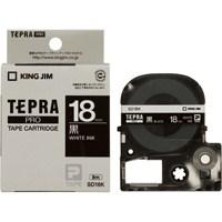 キングジム テプラPROテープ SD18K 黒に白文字 18mm★お得な10個パック
