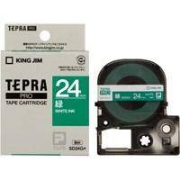 キングジム テプラPROテープ SD24G 緑に白文字 24mm★お得な10個パック