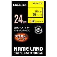 カシオ計算機 マグネットテープ XR-24JYW 黄に黒文字24mm★お得な10個パック