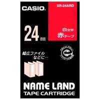 カシオ計算機 ラベルテープ XR-24ARD 赤に白文字 24mm★お得な10個パック