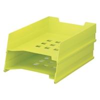 LIHITLAB マルチレタートレー A-7300-6 黄緑★お得な10個パック