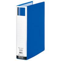 スマートバリュー パイプ式ファイル両開きSE青10冊D175J-10BL★お得な10個パック