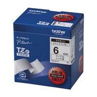 ブラザー 文字テープ TZe-211V白に黒文字 6mm 5個★お得な10個パック
