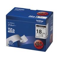 ブラザー 文字テープ TZe-241V白に黒文字 18mm 5個★お得な10個パック
