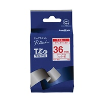 ブラザー 文字テープ TZe-262白に赤文字 36mm★お得な10個パック