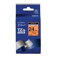 ブラザー 文字テープ TZe-B51蛍光橙に黒文字 24mm★お得な10個パック