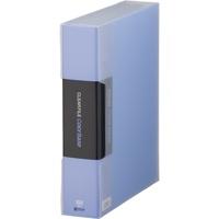キングジム クリアーファイル 100P 132-5C A4S 青★お得な10個パック