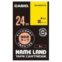 カシオ計算機 ラベルテープXR-24GCYW 黒文字黄テープ24mm★お得な10個パック