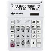 スマートバリュー 大型電卓 ホワイト K070J★お得な10個パック