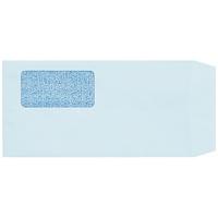 スマートバリュー 窓付封筒長3ブルー100枚テープ付 P029J-B★お得な10個パック