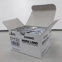 カシオ計算機 テープ XR-6WE-5P-E 白に黒文字 6mm 5個★お得な10個パック