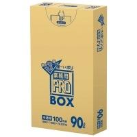 日本サニパック 3層ゴミ袋業務用PRO 90L 半透明 PA93 100枚★お得な10個パック