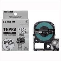 キングジム テプラPROテープマット透明/白文字SB18TS★お得な10個パック