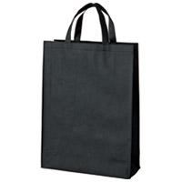 スマートバリュー 不織布手提げバッグ中10枚ブラックB451J-BK★お得な10個パック