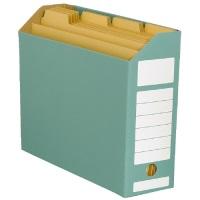 スマートバリュー ボックスファイル ヨコ型緑10冊 D044J-GR★お得な10個パック