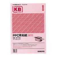 【コクヨ】 PPC用和紙柄入り 60g/m2 A4 100枚入 ピンクKB-W119P 入数:1 ★お得な10個パック