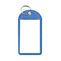 【コクヨ】 ソフトキーホルダー型名札 青 カード寸法45×28mmナフ-220B 入数:50 ★お得な10個パック