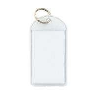 【コクヨ】 ソフトキーホルダー型名札 白 カード寸法45×28mm ナフ-220W 入数:50 ★お得な10個パック★
