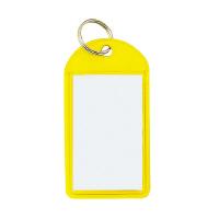 【コクヨ】 ソフトキーホルダー型名札 黄 カード寸法45×28mmナフ-220Y 入数:50 ★お得な10個パック