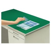 【コクヨ】 デスクマット軟質W(非転写) グリーン 透明 下敷き付 7号デスク用マ-417NG 入数:1 ★お得な10個パック