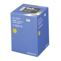 【コクヨ】 タックメモ(お徳用・ノートタイプ) 74×74mm 黄 100枚×10メ-2001N 入数:1 ★お得な10個パック