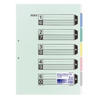 【コクヨ】 カラー仕切カード(ファイル用) A3縦 5山+扉紙 2穴 10組入シキ-90 入数:1 ★お得な10個パック