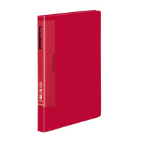 【コクヨ】 クリヤーブック(ウェーブカットポケット) A4縦 固定式40枚ポケット 赤ラ-T570R 入数:1 ★お得な10個パック