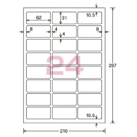 【コクヨ】 カラーLBP&PPC用光沢紙ラベル A4 27面 25X56 100枚 LBP-G1927 入数:1 ★お得な10個パック