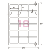 【コクヨ】 カラーLBP&PPC用光沢紙ラベル A4 18面 42X62 20枚 LBP-G6918 入数:1 ★お得な10個パック