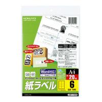 【コクヨ】 モノクロレーザー用紙ラベル A4 20枚入 6面カットLBP-7166N 入数:1 ★お得な10個パック