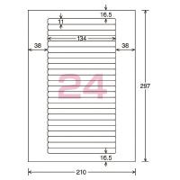 【コクヨ】 モノクロレーザー用紙ラベル A4 10枚入 24面カットLBP-7170N 入数:1 ★お得な10個パック