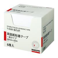 【コクヨ】 両面紙粘着テープ お徳用Eパック 20mm×20m 6巻入りT-E220 入数:1 ★お得な10個パック