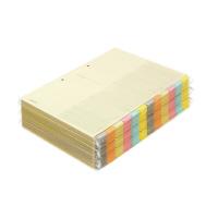 【コクヨ】 カラー仕切カード(ファイル用)徳用パック A4縦 6色12山見出+扉紙 30組入 シキ-150 入数:1 ★お得な10個パック★