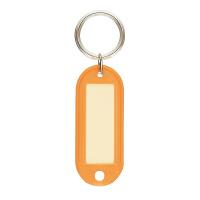 【コクヨ】 キーホルダー型名札 オレンジ 両面表示用大 ナフ-210YR 入数:50 ★お得な10個パック★