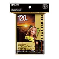 【コクヨ】 IJP用紙(プロフェッショナル写真用紙) 高光沢 ・厚手 L 120枚KJ-D10L-120 入数:1 ★お得な10個パック
