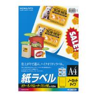 【コクヨ】 LBP用紙ラベル(カラー&モノクロ対応) A4 100枚入 ノーカット LBP-F190N 入数:1 ★お得な10個パック★