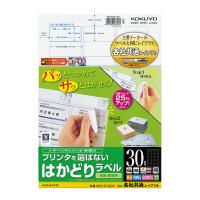 【コクヨ】 プリンタを選ばないはかどりラベル A4 30面 100枚入りKPC-E1301-100 入数:1 ★お得な10個パック