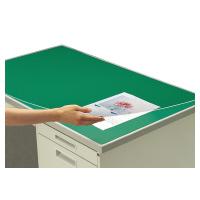 【コクヨ】 デスクマット軟質Wエコノミー 塩ビ製 緑 透明 下敷き付 汎用マ-1200NG 入数:1 ★お得な10個パック