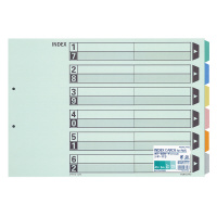 【コクヨ】 カラー仕切カード(ファイル用)A3横 6山見出し 2穴 10組入りシキ-113 入数:1 ★お得な10個パック
