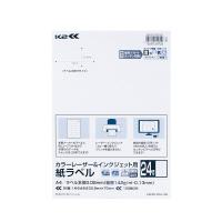 【コクヨ】 紙ラベル<K2>24面カット100枚入り カラーレーザー&インクジェット用K2KPC-V24-100 入数:1 ★お得な10個パック