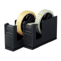 【コクヨ】 テープカッター<カルカット> スチール 2連タイプ 黒 T-SM110D 入数:1 ★お得な10個パック★